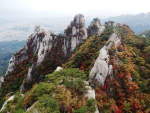 Bukhansan National Park in Autumn